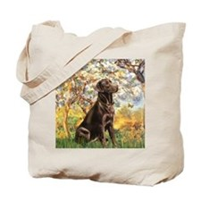 Spring (MP) - Chocolate Lab 11 Tote Bag