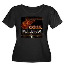 Hardcore Women's Plus Size Dark Scoop Neck T-Shirt