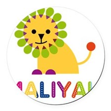 Maliyah-the-lion Round Car Magnet