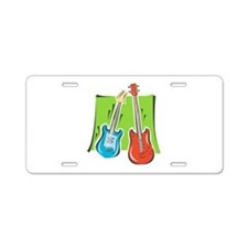 guitar and bass stylized Aluminum License Plate