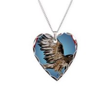 Flying Hawk ornament_ovalP Necklace