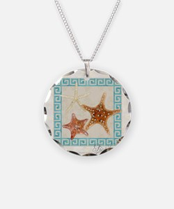 Starfish Sea Shells Seashell Necklace