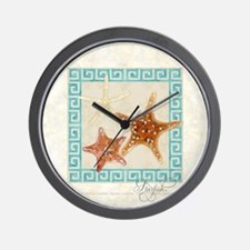 Starfish Sea Shells Seashells, Greek Ke Wall Clock