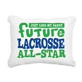 Baby lacrosse Rectangle Canvas Pillows