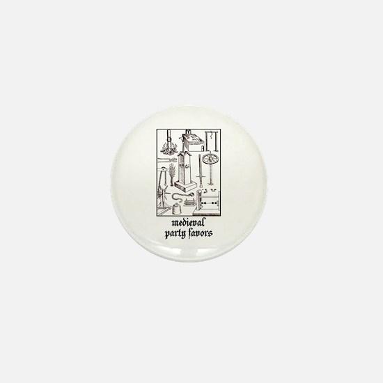 Medieval Party Favors Mini Button