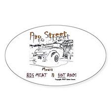 Pro Street Freeks Oval Decal