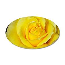 Beautiful single yellow rose Wall Decal