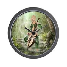 The Elven Forest Wall Clock