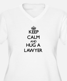 Keep Calm and Hug a Lawyer Plus Size T-Shirt