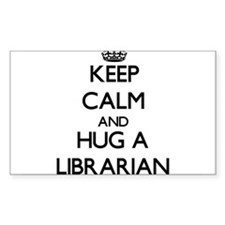 Keep Calm and Hug a Librarian Decal