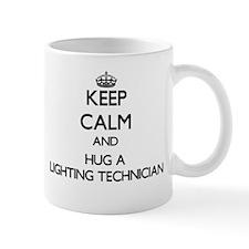 Keep Calm and Hug a Lighting Technician Mugs