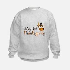 My 1st Thanksgiving Owl Sweatshirt