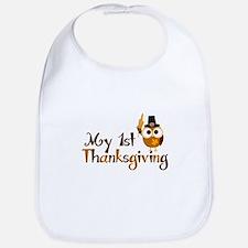 My 1st Thanksgiving Owl Bib
