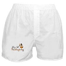 My 1st Thanksgiving Owl Boxer Shorts