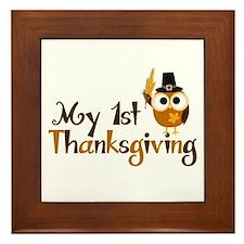 My 1st Thanksgiving Owl Framed Tile