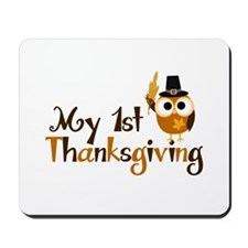 My 1st Thanksgiving Owl Mousepad