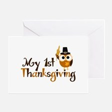 My 1st Thanksgiving Owl Greeting Card