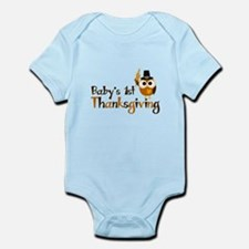 Baby's 1st Thanksgiving Owl Infant Bodysuit