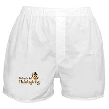 Baby's 1st Thanksgiving Owl Boxer Shorts
