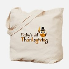 Baby's 1st Thanksgiving Owl Tote Bag