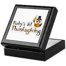 Baby's 1st Thanksgiving Owl Keepsake Box
