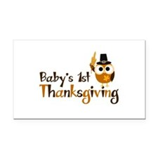 Baby's 1st Thanksgiving Owl Rectangle Car Magnet