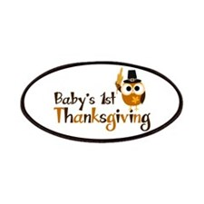 Baby's 1st Thanksgiving Owl Patches