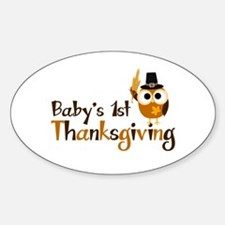Baby's 1st Thanksgiving Owl Decal