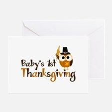 Baby's 1st Thanksgiving Owl Greeting Card