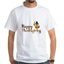 Happy Thanksgiving Owl Shirt
