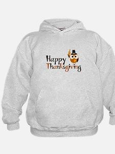 Happy Thanksgiving Owl Hoodie