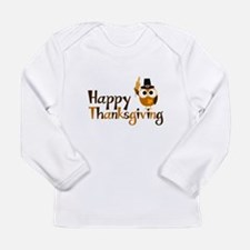 Happy Thanksgiving Owl Long Sleeve Infant T-Shirt