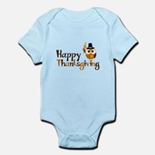 Happy Thanksgiving Owl Infant Bodysuit