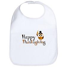 Happy Thanksgiving Owl Bib