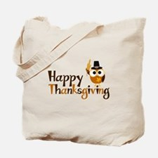 Happy Thanksgiving Owl Tote Bag