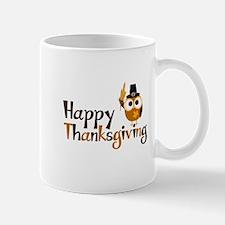 Happy Thanksgiving Owl Mug