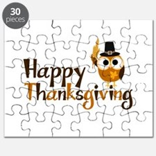 Happy Thanksgiving Owl Puzzle
