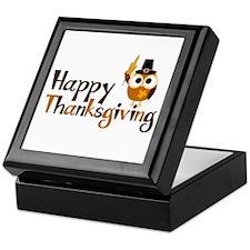 Happy Thanksgiving Owl Keepsake Box