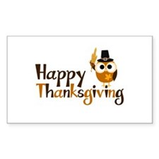 Happy Thanksgiving Owl Decal