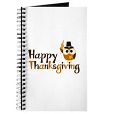Happy Thanksgiving Owl Journal