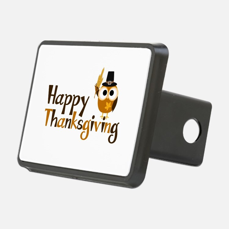 Happy Thanksgiving Owl Hitch Cover