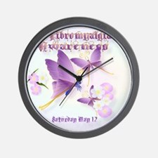 Fibromyalgia Awareness Wall Clock