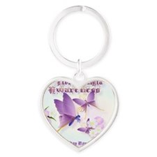 Fibromyalgia Awareness Heart Keychain