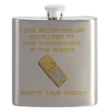 Dry GeoCache Tupperware Yellow Flask