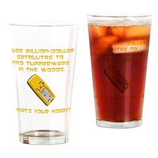 Dry GeoCache Tupperware Yellow Drinking Glass