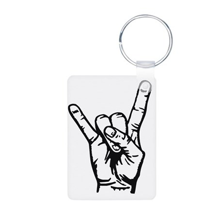 Devilhand - Rock Hand Aluminum Photo Keychain