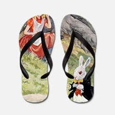 ALICE IN WONDERLAND007 Flip Flops