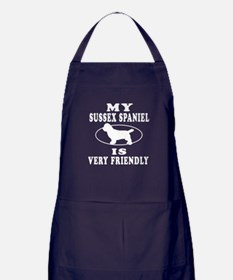 My Sussex Spaniel Is Very Friendly Apron (dark)