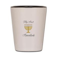 My First Hanukkah Shot Glass