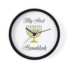 My First Hanukkah Wall Clock